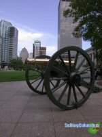 Cannon outside the state capital building in downtown Columbus, Ohio