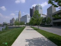 South end of Civic Center Walkway looking North in downtown Columbus, Ohio