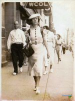 Margaret Clark (Grandma) outside of WCOL on High Street in Downtown Columbus, Ohio - 1936