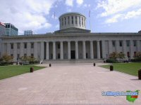 The State Capital building in downtown Columbus, Ohio