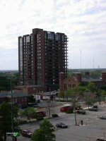 View of Waterford Tower condominiums from the south-east in downtown Columbus, Ohio