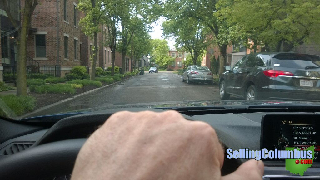 Driving along in German Village in Columbus, Ohio