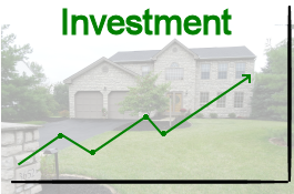 Your home is an investment. Investment chart over home.